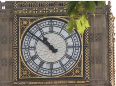 London's iconic bell Big Ben will fall silent after chiming noon on August 21 until 2021 for restoration work.(photo grabbed from Reuters video)