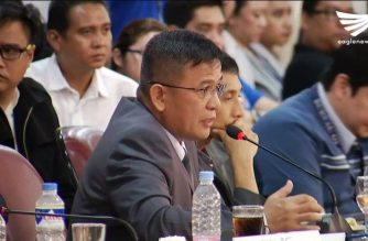 Customs commissioner Nicanor Faeldon answers lawmakers' questions during a hearing at the House of Representatives on the P6.4 billion illegal drug (shabu) shipment from China.  (Eagle News Service)