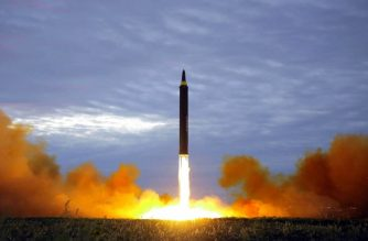 """This picture from North Korea's official Korean Central News Agency (KCNA) taken on August 29, 2017 and released on August 30, 2017 shows North Korea's intermediate-range strategic ballistic rocket Hwasong-12 lifting off from the launching pad in Pyongyang. Nuclear-armed North Korea said on August 30 that it had fired a missile over Japan the previous day, the first time it has ever acknowledged doing so. / AFP PHOTO / KCNA VIA KNS / STR / South Korea OUT / REPUBLIC OF KOREA OUT   ---EDITORS NOTE--- RESTRICTED TO EDITORIAL USE - MANDATORY CREDIT """"AFP PHOTO/KCNA VIA KNS"""" - NO MARKETING NO ADVERTISING CAMPAIGNS - DISTRIBUTED AS A SERVICE TO CLIENTS THIS PICTURE WAS MADE AVAILABLE BY A THIRD PARTY. AFP CAN NOT INDEPENDENTLY VERIFY THE AUTHENTICITY, LOCATION, DATE AND CONTENT OF THIS IMAGE. THIS PHOTO IS DISTRIBUTED EXACTLY AS RECEIVED BY AFP.  /"""