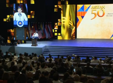 President Rodrigo Duterte on Tueday, Ausgust 8 leads the closing of ASEAN summit. (Photo grabbed from Reuters video)