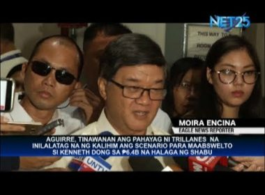Aguirre laughs off Trillanes allegation that DOJ setting stage to absolve Kenneth Dong