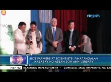 ASEAN honors rice farmers and scientists