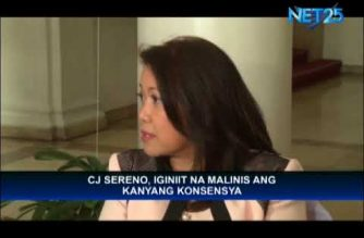 CJ Sereno feels that gov't official living luxurious lifestyle cited by Duterte not her