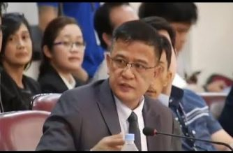 File photo of Office of Civil Defense deputy administrator Nicanor Faeldon, when he was still being grilled as Customs commissioner at the Senate.  (Eagle News Service)