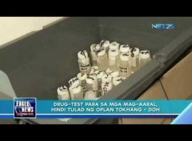 Drug-test para sa mga mag-aaral, hindi tulad ng Oplan Tokhang – DOH