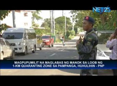 PNP Pampanga to arrest those who will smuggle poultry products out of quarantine zone