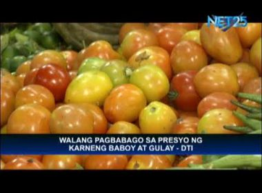 Pork and vegetable prices remain stable – DTI