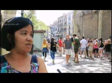 Video:  Filipina recalls Barcelona van attack;  whole of Spain in mourning