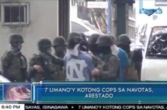 Pitong umano'y kotong cops sa Navotas, arestado
