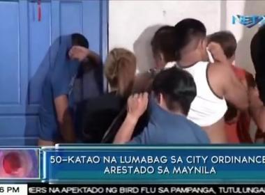 50 katao na lumabag sa city ordinance, arestado sa Maynila