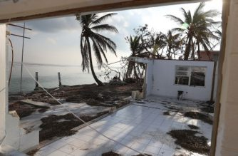 MARATHON, FL - SEPTEMBER 19: A home that was destroyed by hurricane Irma is seen on September 19, 2017 in Marathon, Florida. The process of rebuilding has begun as the Federal Emergency Management Agency has reported that 25-percent of all homes in the Florida Keys were destroyed and 65-percent sustained major damage when they took a direct hit from Hurricane Irma.   Joe Raedle/Getty Images/AFP