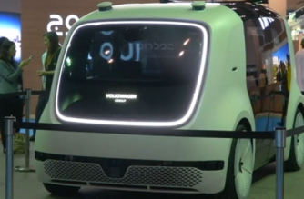 VW's driverless car 'Sedric' goes on display in Dubai and promises passengers total automation at the touch of a button. (Photo grabbed from Reuters video)