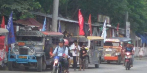 News in photos:  Rallyists from Rizal province prepare for protest action