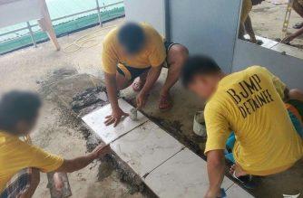 Ilang inmates sa Puerto Princesa jail, sumailalim sa tile-setting training