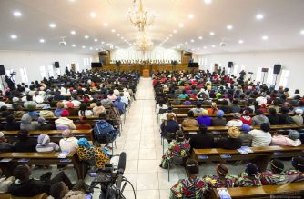 South African members of the Iglesia Ni Cristo attend the dedication of the INC house of worship in Ladybrand, South Africa that was officiated by INC Executive Minister Brother Eduardo V. Manalo.  On September 7, 2017,  Iglesia Ni Cristo members around the world commemorate the eight years of inspired and dynamic leadership of Brother Eduardo as the INC Executive Minister  (Eagle News Service)