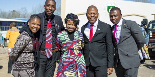 Day for Rejoicing: South African INC members after the house of worship dedication in Ladybrand
