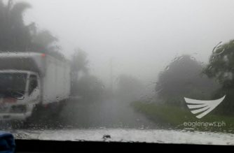 "Zero visibility in Majayjay, Laguna due to ""Maring."" Erwin Temperante/Eagle News Service/"