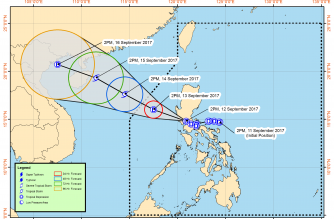 "TD ""Maring"" now in the vicinity of Pampanga, to leave Luzon tonight"