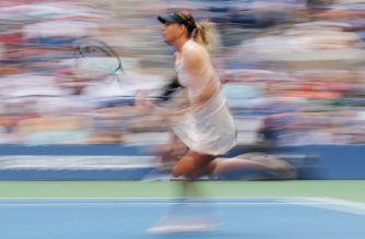 NEW YORK, NY - SEPTEMBER 03: Maria Sharapova of Russia returns a shot during her women's singles fourth round match against Anastasija Sevastova of Latvia on Day Seven of the 2017 US Open at the USTA Billie Jean King National Tennis Center on September 3, 2017 in the Flushing neighborhood of the Queens borough of New York City.   Richard Heathcote/Getty Images/AFP