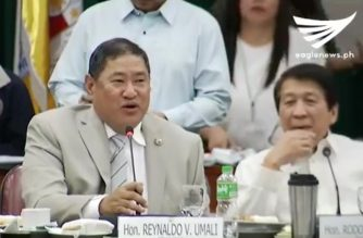 House Justice committee chair announces the ruling dismissing the impeachment complaint against Commission on Elections (COMELEC) chair Andres Bautista.   (Eagle News Service)