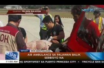 Air ambulance sa Palawan, balik serbisyo na