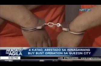 Apat na katao, arestado sa buy-bust operation sa Quezon City