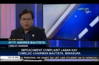 COMELEC Chair Bautista welcomes dismissal of impeach complaint vs him