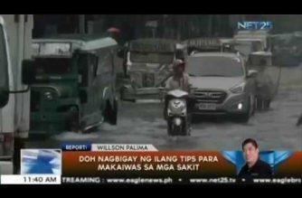 DOH nagbigay ng ilang tips para makaiwas sa mga sakit na dulot ng mga pag-ulan at pagbaha