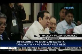 House justice panel to tackle COMELEC Chair Bautista's impeachment next week
