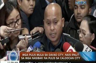 Mga pulis mula sa Davao City, nais ipalit sa mga nasibak na pulis sa Caloocan City