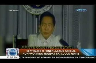 Palace declares Sept. 11, Marcos' 100th bday, special non-working holiday in Ilocos Norte