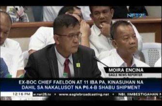 PDEA files criminal raps vs Faeldon, several others over P6.4-billion drug shipment