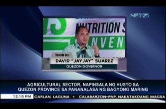 """Quezon's agriculture severely damaged by storm """"Maring,"""" says governor"""