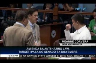 Senate wants proposed amendment to Anti-Hazing Law passed before December