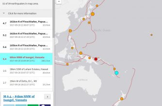 The quake in Vanuatu, as well as other tremors in the surrounding areas recorded by the United States Geological Survey (USGS). (Photo grabbed from USGS website)
