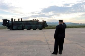 "This undated picture released from North Korea's official Korean Central News Agency (KCNA) on September 16, 2017 shows North Korean leader Kim Jong-Un (R) inspecting a launching drill of the medium-and-long range strategic ballistic rocket Hwasong-12 at an undisclosed location. Kim vowed to complete North Korea's nuclear force despite sanctions, saying the final goal of his country's weapons development is ""equilibrium of real force"" with the United States, state media reported on September 16. / AFP PHOTO / KCNA VIA KNS / STR / South Korea OUT / REPUBLIC OF KOREA OUT   ---EDITORS NOTE--- RESTRICTED TO EDITORIAL USE - MANDATORY CREDIT ""AFP PHOTO/KCNA VIA KNS"" - NO MARKETING NO ADVERTISING CAMPAIGNS - DISTRIBUTED AS A SERVICE TO CLIENTS THIS PICTURE WAS MADE AVAILABLE BY A THIRD PARTY. AFP CAN NOT INDEPENDENTLY VERIFY THE AUTHENTICITY, LOCATION, DATE AND CONTENT OF THIS IMAGE. THIS PHOTO IS DISTRIBUTED EXACTLY AS RECEIVED BY AFP.  /"