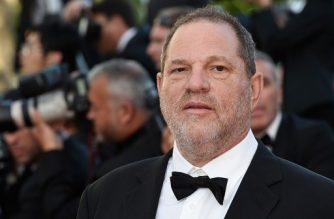 "(FILES) This file photo taken on May 22, 2015 shows  US producer Harvey Weinstein arriving for the screening of the film ""The Little Prince"" at the 68th Cannes Film Festival in Cannes.     Weinstein was fired from his film studio the Weinstein Company on October 8, 2017, following reports that he sexually harassed women over several decades, according to US media. / AFP PHOTO / LOIC VENANCE"