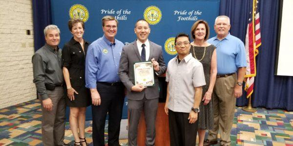 Glendora City recognizes INC Congregation for community service