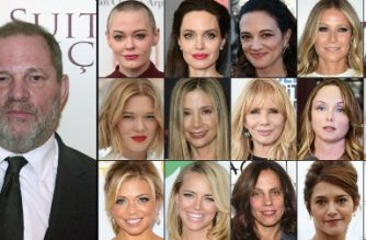 (COMBO): This combination of pictures created on October 13, 2017 shows US producer Harvey Weinstein (L) taken on March 10, 2015; (1st row from L) US actress Rose McGowan taken on April 3, 2016, US actress Angelina Jolie taken on September 13, 2017 in New York City, Italian actress Asia Argento taken on May 17, 2017, US actress Gwyneth Paltrow taken on May 6, 2017, US actress Ashley Judd taken on July 25, 2017, (2nd row fromL) French actress Lea Seydoux taken on May 19, 2016, US actress Mira Sorvino taken on December 7, 2015, US actress Rosanna Arquette taken on February 25, 2017, US actress Louisette Geiss taken on October 10, 2017, British actress Kate Beckinsale taken on on August 7, 2017, (3rd row fromL) Television reporter Lauren Sivan taken on July 26, 2014, US actress Jessica Barth taken  on June 21, 2012, US producer Elizabeth Karlsen taken on January 4, 2016, French actress Emma De Caunes taken on October 17, 2016, and French actress Judith Godreche taken on October 19, 2015.   An avalanche of claims of sexual harassment, assault and rape by hugely influential Hollywood producer Harvey Weinstein have surfaced since the publication last week of an explosive New York Times report alleging a history of abusive behavior dating back decades. / AFP PHOTO / GETTY IMAGES NORTH AMERICA AND AFP PHOTO / STAFF