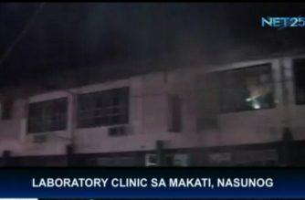 Laboratory clinic sa Makati, nasunog