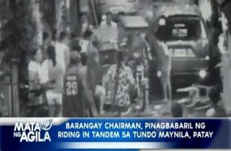 Barangay chairman patay, isa pa sugatan sa pag-atake ng riding-in-tandem sa Maynila