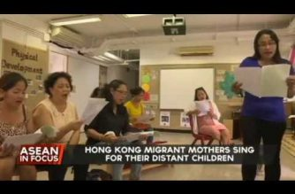 Hong Kong migrant mothers sing for their distant children