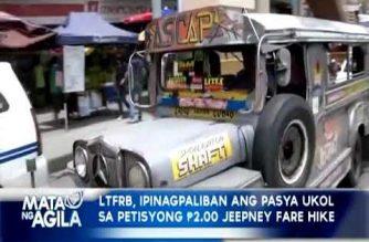 LTFRB, ipinagpaliban ang pasya ukol sa petisyong Php 2.00 jeepney fare hike