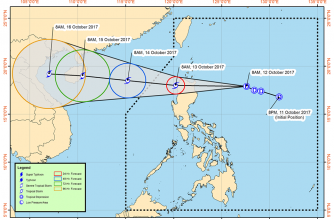 Tropical Depression Odette as of 11 a.m.