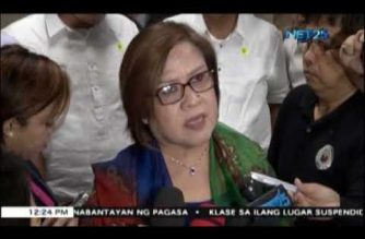 "De Lima says there is no need to oust Duterte; ""God will take care of it,"" she says"