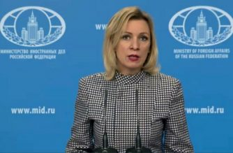 "A video grab made from handout footage taken in Moscow on April 7, 2017 and released by the Russian Foreign Ministry shows foreign ministry spokeswoman Maria Zakharova making a statement on the US strike on a regime air base in Syria. / AFP PHOTO / RUSSIAN FOREIGN MINISTRY / HO / RESTRICTED TO EDITORIAL USE - MANDATORY CREDIT ""AFP PHOTO / Russian Foreign Ministry / HO"" - NO MARKETING NO ADVERTISING CAMPAIGNS - DISTRIBUTED AS A SERVICE TO CLIENTS"