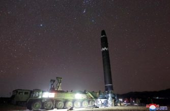 """This photo taken on November 29, 2017 and released on November 30, 2017 by North Korea's official Korean Central News Agency (KCNA) shows the Hwasong-15 missile which is capable of reaching all parts of the US.  / AFP PHOTO / KCNA via KNS / KCNA VIA KNS /  - South Korea OUT / REPUBLIC OF KOREA OUT   ---EDITORS NOTE--- RESTRICTED TO EDITORIAL USE - MANDATORY CREDIT """"AFP PHOTO/KCNA VIA KNS"""" - NO MARKETING NO ADVERTISING CAMPAIGNS - DISTRIBUTED AS A SERVICE TO CLIENTS THIS PICTURE WAS MADE AVAILABLE BY A THIRD PARTY. AFP CAN NOT INDEPENDENTLY VERIFY THE AUTHENTICITY, LOCATION, DATE AND CONTENT OF THIS IMAGE. THIS PHOTO IS DISTRIBUTED EXACTLY AS RECEIVED BY AFP.  / """"The erroneous mention[s] appearing in the metadata of this photo by KCNA VIA KNS has been modified in AFP systems in the following manner: [Hwasong-15 missile] instead of [Hwansong-15 missile]. Please immediately remove the erroneous mention[s] from all your online services and delete it (them) from your servers. If you have been authorized by AFP to distribute it (them) to third parties, please ensure that the same actions are carried out by them. Failure to promptly comply with these instructions will entail liability on your part for any continued or post notification usage. Therefore we thank you very much for all your attention and prompt action. We are sorry for the inconvenience this notification may cause and remain at your disposal for any further information you may require."""""""