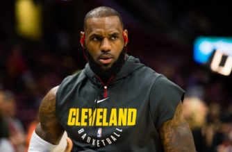 CLEVELAND, OH - NOVEMBER 17: LeBron James #23 of the Cleveland Cavaliers warms up prior to the game against the LA Clippers at Quicken Loans Arena on November 17, 2017 in Cleveland, Ohio. NOTE TO USER: User expressly acknowledges and agrees that, by downloading and/or using this photograph, user is consenting to the terms and conditions of the Getty Images License Agreement.   Jason Miller/Getty Images/AFP