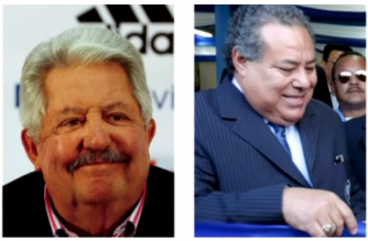 File photos of Julio Rocha and Rafael Esquivel - two of the three former soccer officials who FIFA's ethics committee banned for life on November 21 (Photo grabbed from Reuters video)