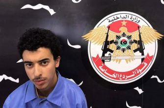 A photo released on the Facebook page of Libya's Ministry of Interior's Special Deterrence Force on May 24, 2017 claims to shows Hashem Abedi, the brother of the man suspected of carrying out the bombing in the British city of Manchester, after he was detained in Tripoli for alleged links to the Islamic State (IS) group. / AFP PHOTO / LIBYA'S SPECIAL DETERRENCE FORCE / HO /